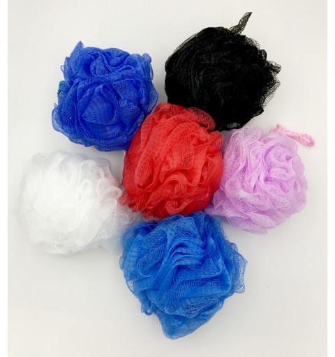 Duschbollar perfekt för duschen med olika färger och upphängningssnöre