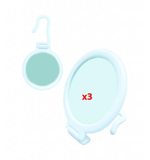 Make Up Spegel vit med förstoring X 3