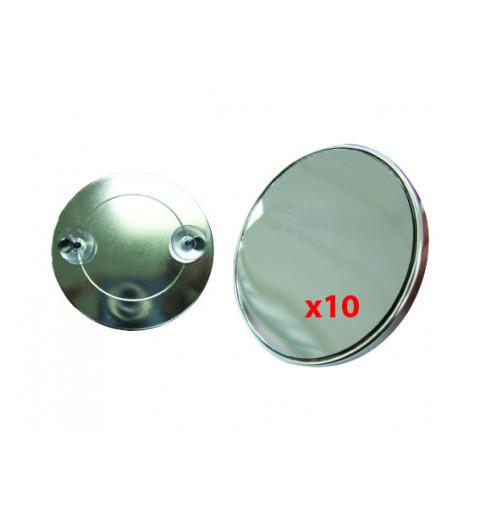 Spegel med sugproppar förstoring X 10