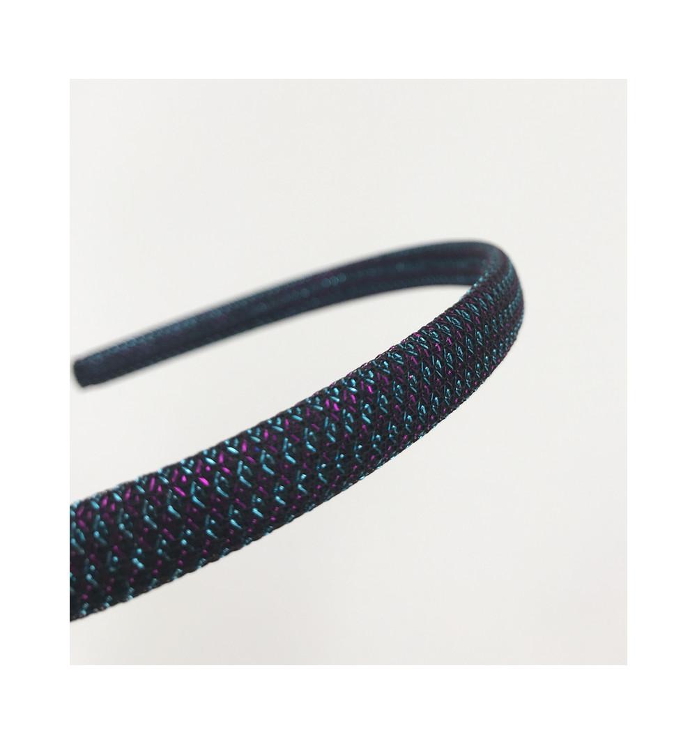 Skimmer diadem smalt  skimrade blå metallisk glittrig