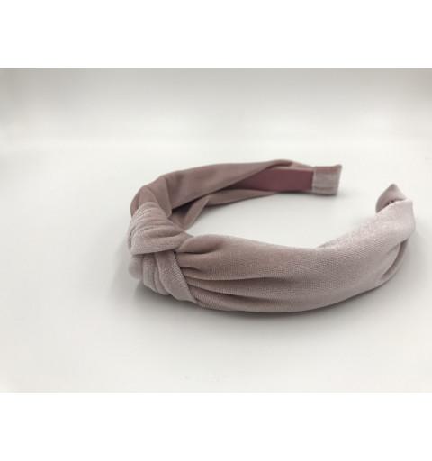 Diadem med knut i sammet