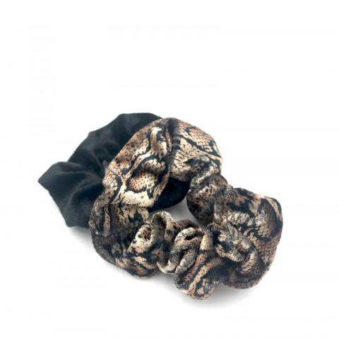 Scrunchie med djurmönster 2 pack.