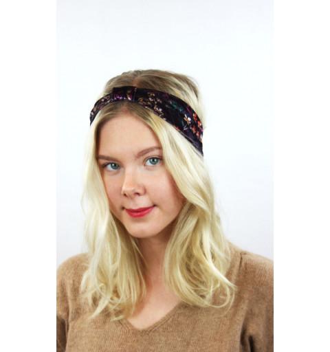 Blommigt hårband med knut