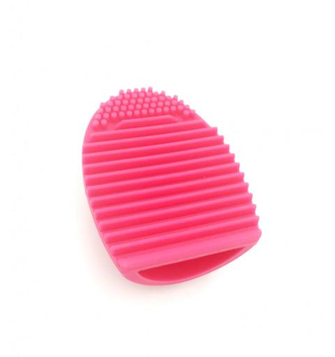 smink borste make up rengöring verktyg  tvätta smink borste penslar silikon verktyg borste ägg brush egg rosa