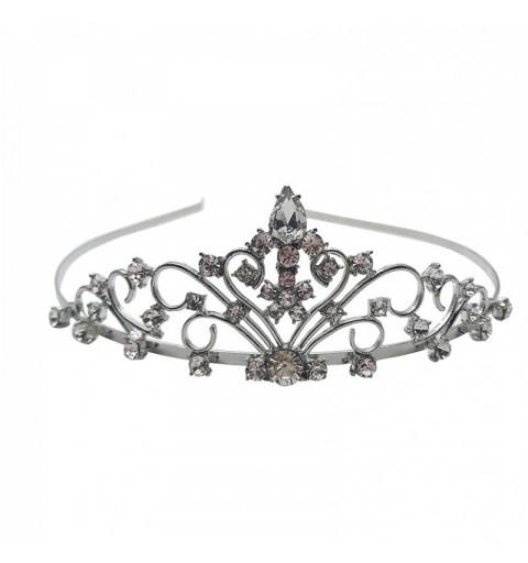 Tiara med strass silver möhippa