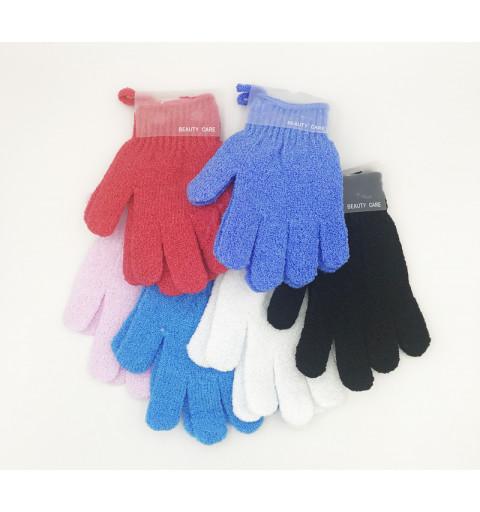 Peeling handskar perfekta för att göra rent kroppen med i duschen