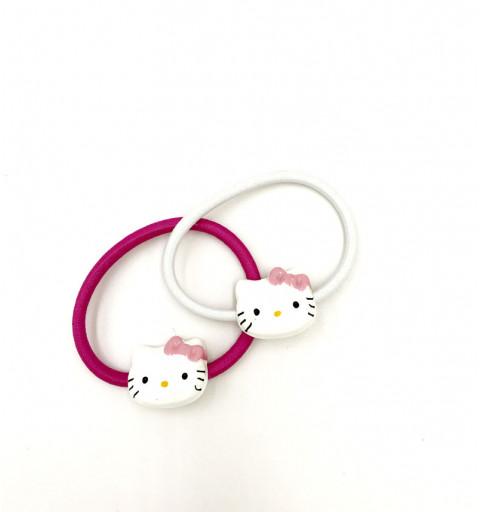 Hårsnoddar med hello kitty barn hårsnoddar rosa vit hårsnodd med dekorative platta set katt