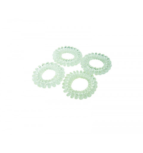 Spiralsnoddar 4-pack Transparenta Mini telesnoddar transparenta barn