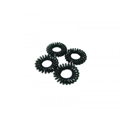 Spiralsnoddar Svarta 4-pack Mini telesnoddar svarta barn
