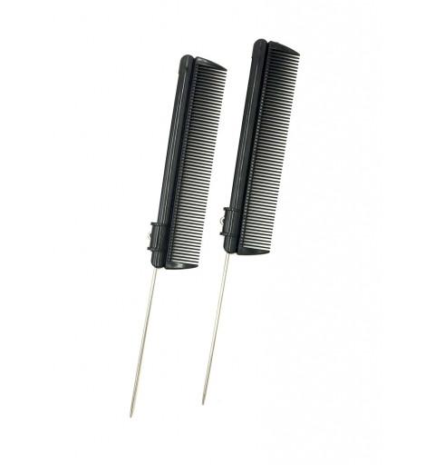 Skjutbara Pinnkammar toupekam håruppsättning  verktyg