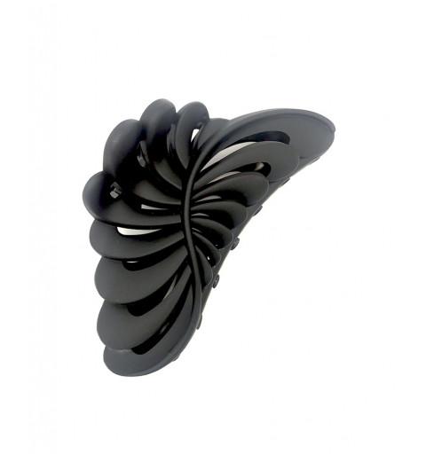 Stor hårklämma i svart med matt yta