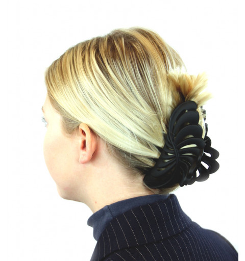 Stor hårklämma i svart.