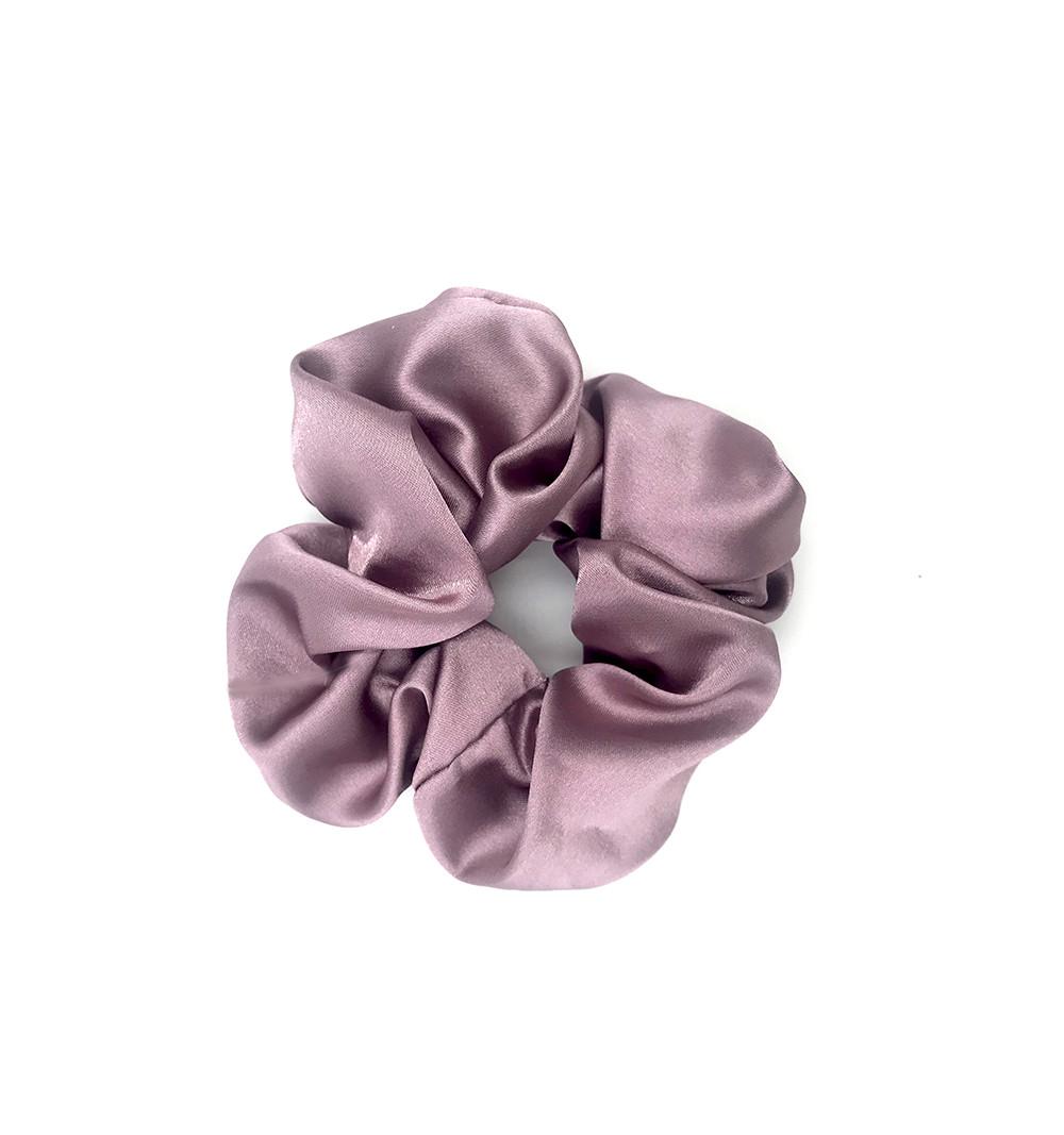 Scrunchie satin lila