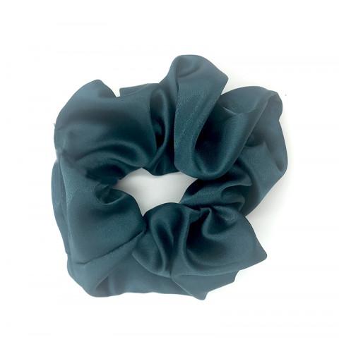 Scrunchie satin blå