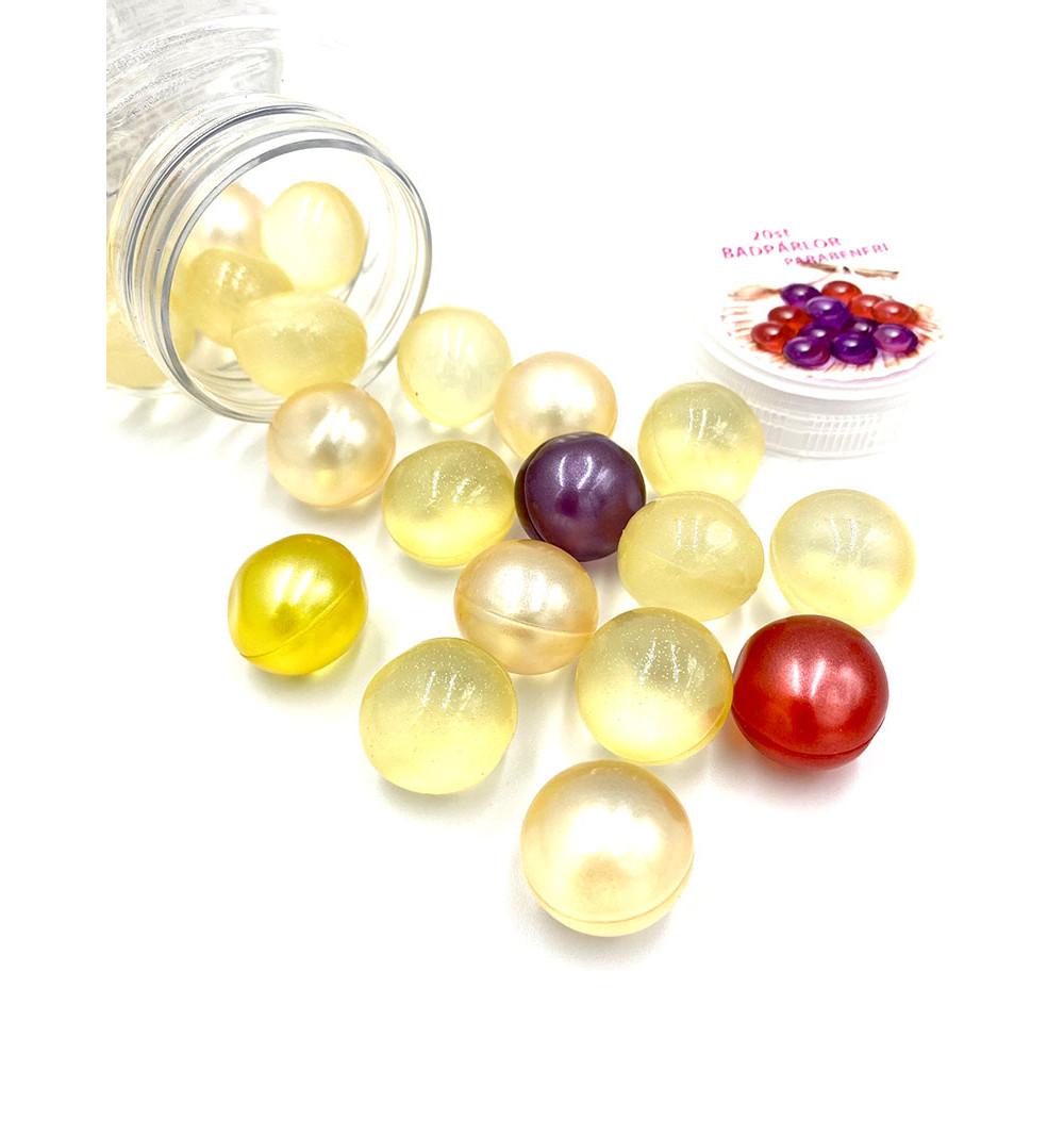 badkulor bad pärlor bad bomb I plast bruk 20 st återfuktande olja bath pearl