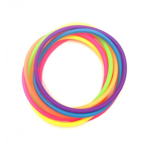 Silikonsnoddar blandade färger mix barn silikon silicon hårsnoddar