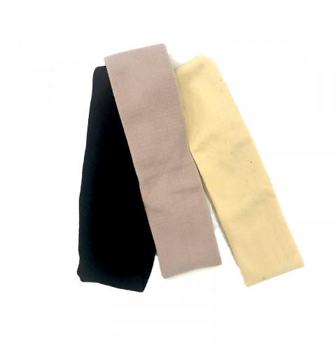 Breda hårband set sport träning svart beige och lila