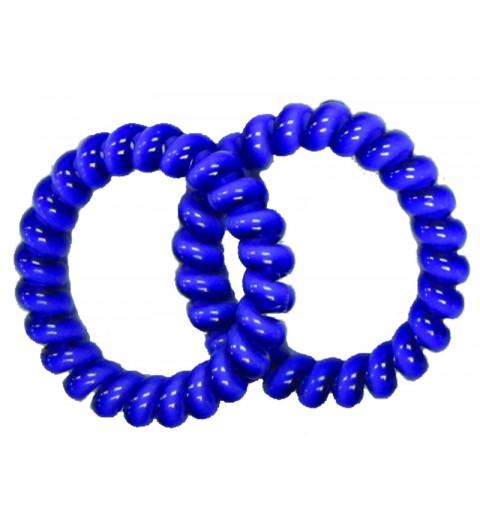 Spiralsnodd 2-pack blå Enfärgad telesnodd set hair bobbles sport barn