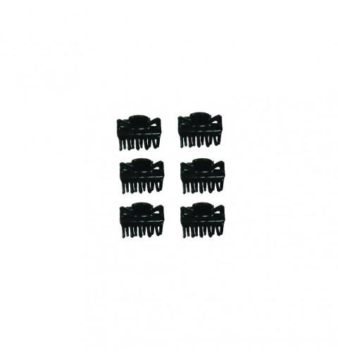 Mini hårklämmor svarta 6-P