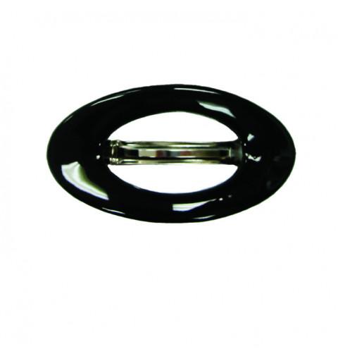 Hårklämma oval i svart