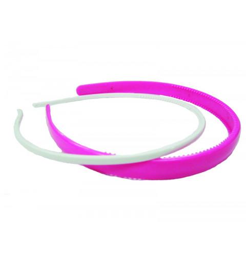 Diadem set i plast vitt och rosa till barn