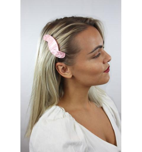 Hårspänne i marmormönster hårklämma barrette clips clasp hårmode acrylic sidohårklämma  rosa