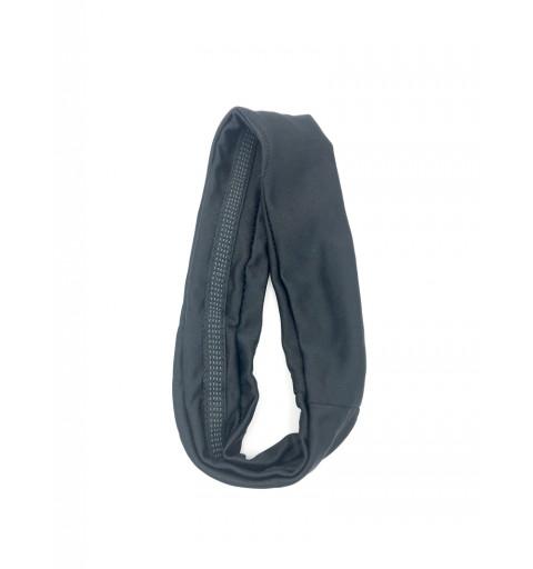 Hårband i svart silikonet på insidan anti slip elastisk silikonpluppar sport träning gym bred hårband
