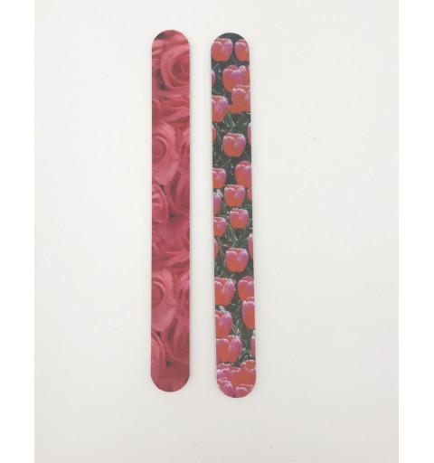 Sandpappers fil dubbel med blom tryck       2-pack
